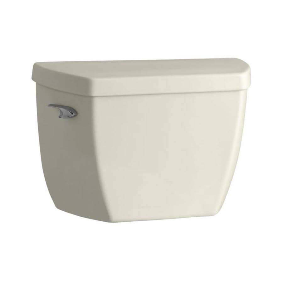 KOHLER Highline Classic Biscuit 1.0000-GPF Single-Flush High-Efficiency Toilet Tank