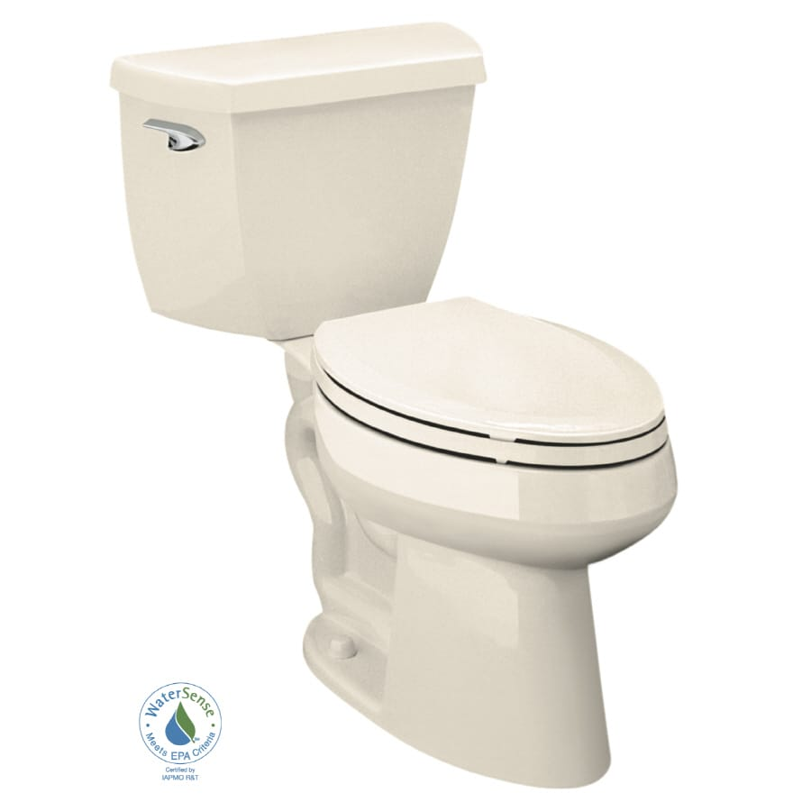 KOHLER Highline 1-GPF Almond WaterSense Elongated Chair Height 2-Piece Toilet
