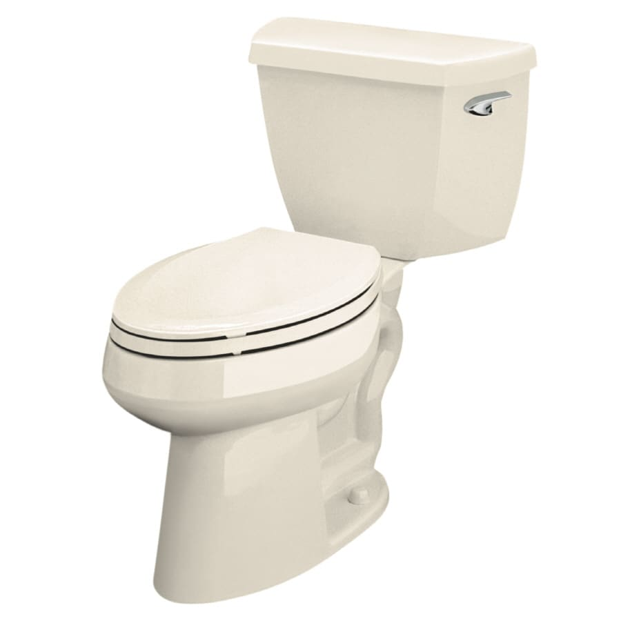 KOHLER Highline Almond WaterSense Labeled  Elongated Chair Height 2-piece Toilet 12-in Rough-In Size