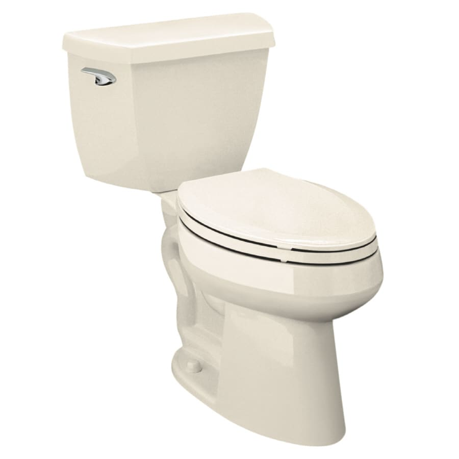 KOHLER Higline Almond WaterSense Labeled  Elongated Chair Height 2-piece Toilet 12-in Rough-In Size