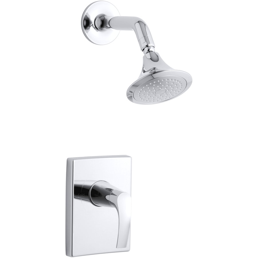 KOHLER Symbol Polished Chrome 1-Handle Shower Faucet Trim Kit with Single Function Showerhead