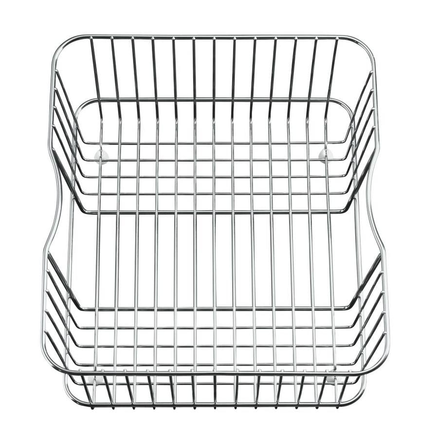 KOHLER 15.25-in W x 13.5-in L x 6.812-in H Metal Dish Rack