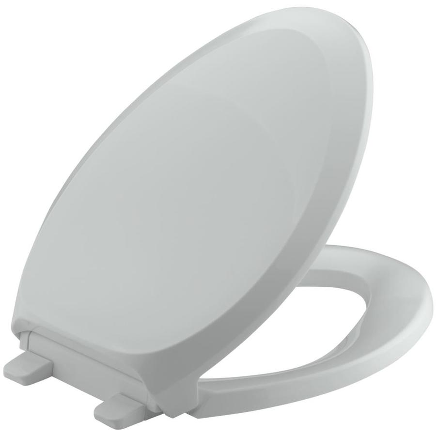 KOHLER Quiet Close Grip-Tight French Curve Plastic Elongated Slow Close Toilet Seat