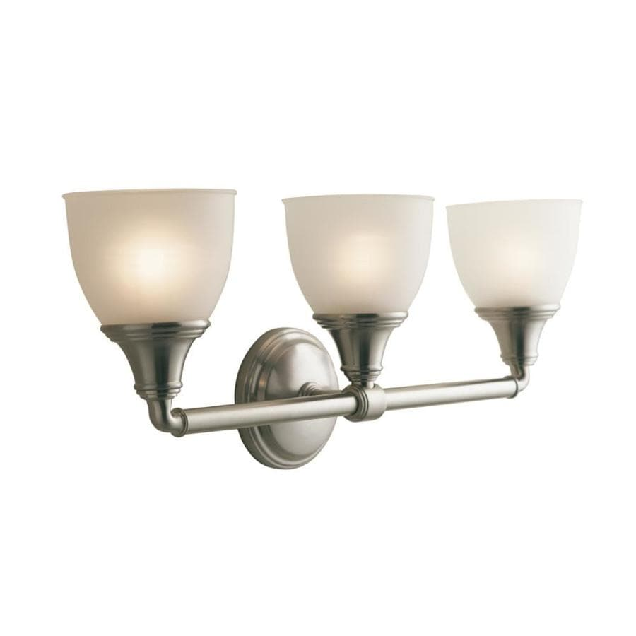 Shop KOHLER Devonshire In W Light Vibrant Brushed Nickel Arm - Polished nickel bathroom wall sconces