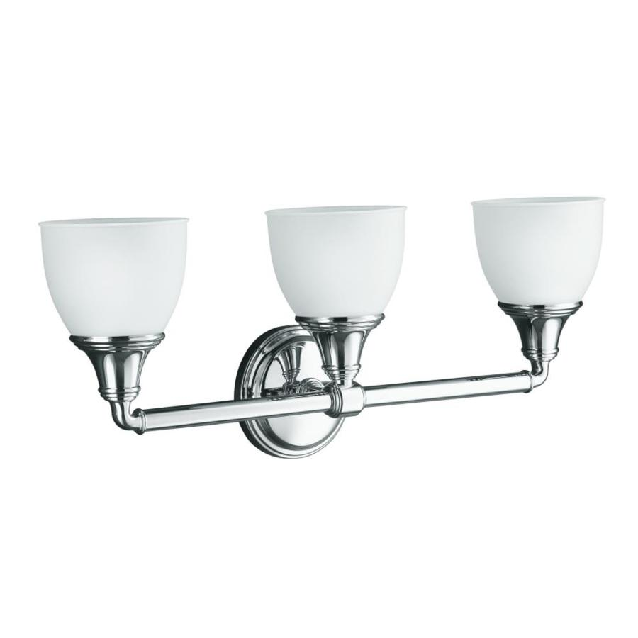 KOHLER Devonshire 23-in W 3-Light Polished Chrome Arm Wall Sconce