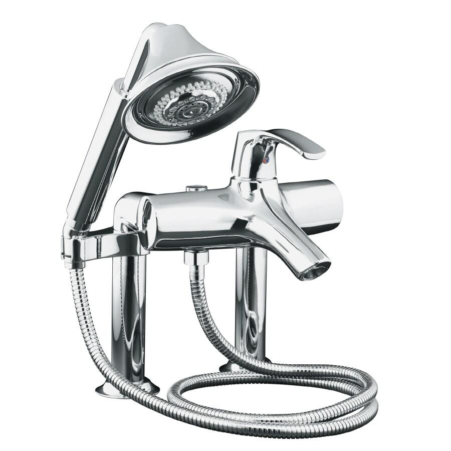 KOHLER Symbol Polished Chrome 1-Handle Deck Mount Bathtub Faucet