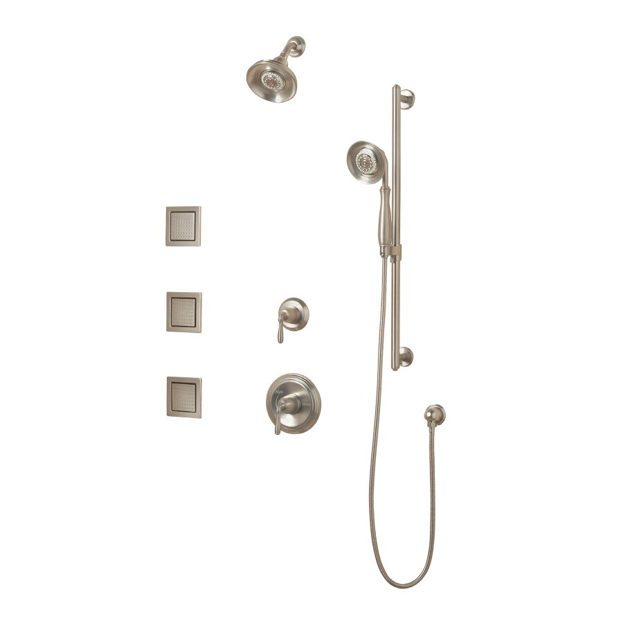 Shop KOHLER Devonshire Vibrant Brushed Nickel Handle Bathtub And - Kohler devonshire bathroom faucet brushed nickel