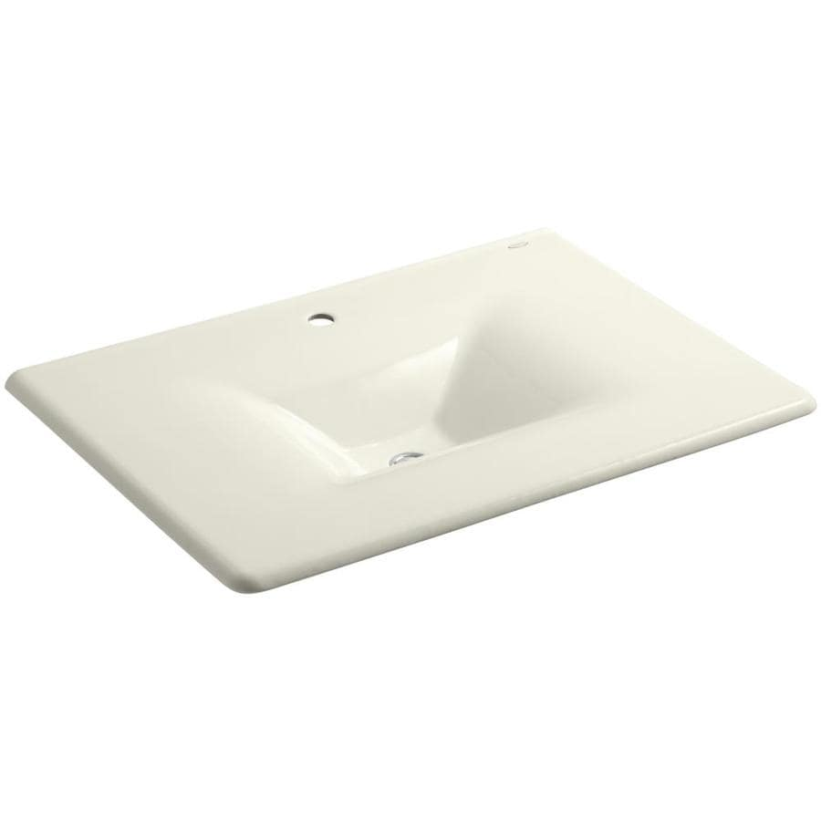 KOHLER Impressions Biscuit Cast Iron Rectangular Bathroom Sink