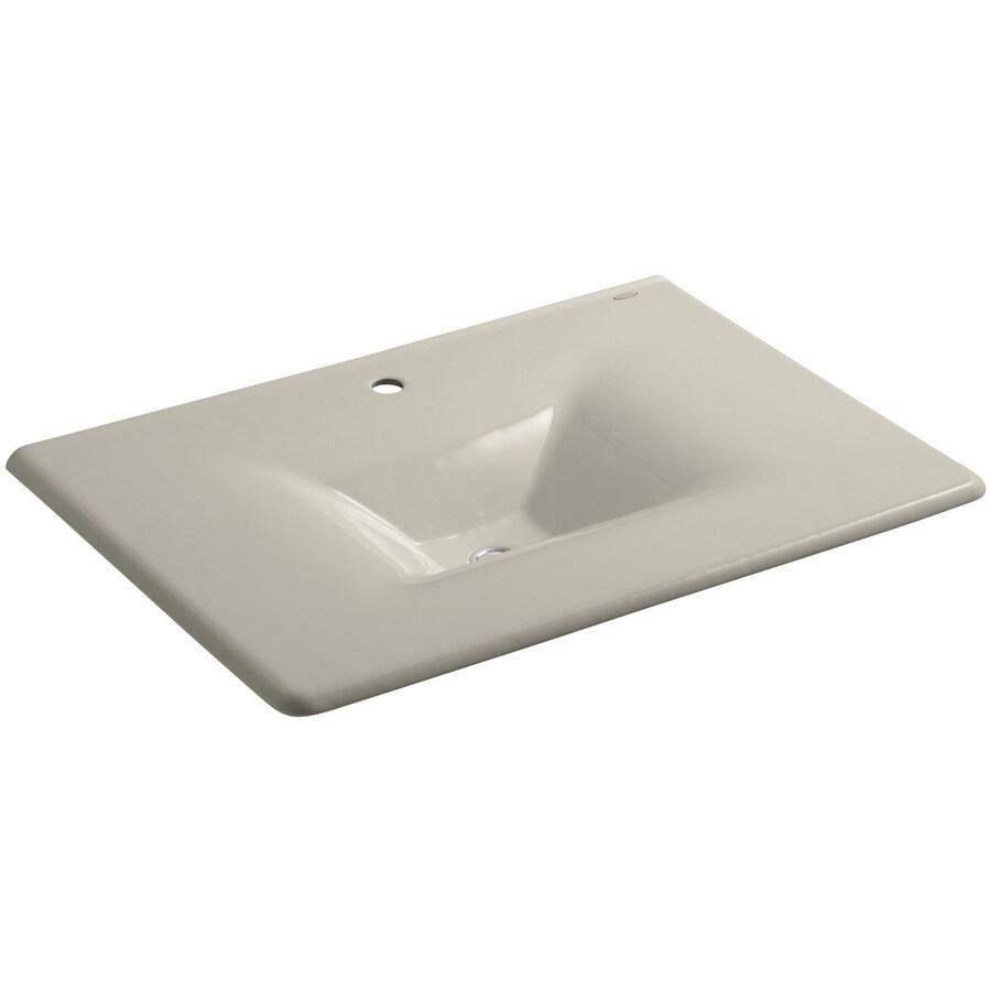 KOHLER Impressions Sandbar Cast Iron Rectangular Bathroom Sink