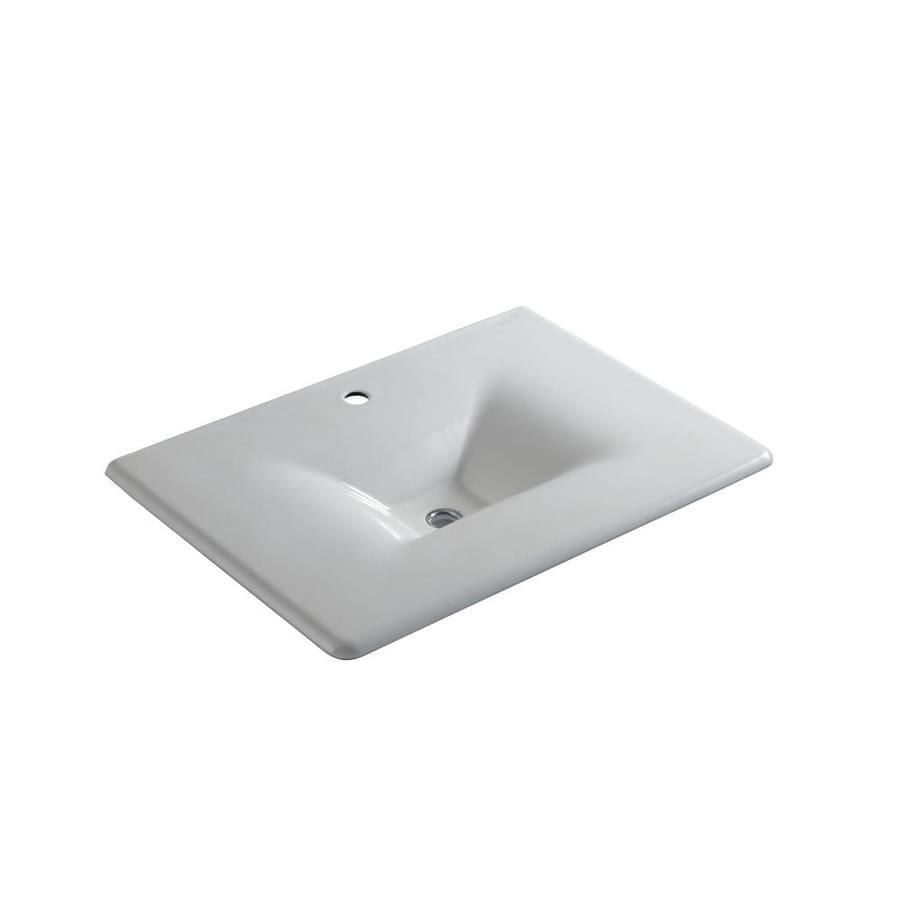 KOHLER Iron/Impressions Cane Sugar Cast Iron Drop-in Rectangular Bathroom Sink