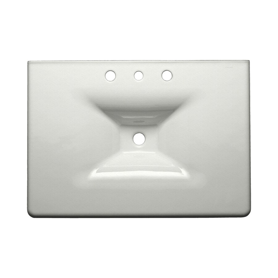KOHLER Iron/Impressions Cane Sugar Cast Iron Drop-in Rectangular Bathroom Sink
