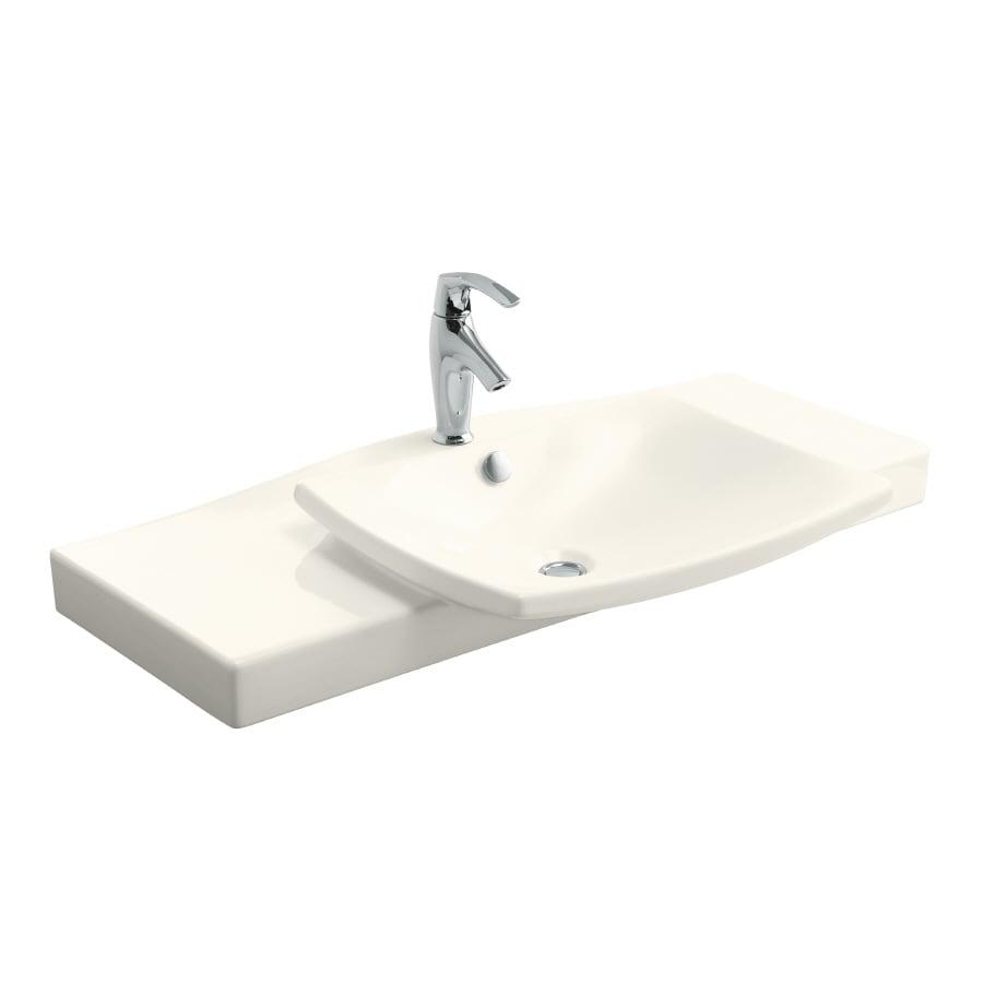 KOHLER Escale Biscuit Fire Clay Integral Bathroom Vanity Top (Common: 40-in x 21-in; Actual: 39.75-in x 20.3125-in)