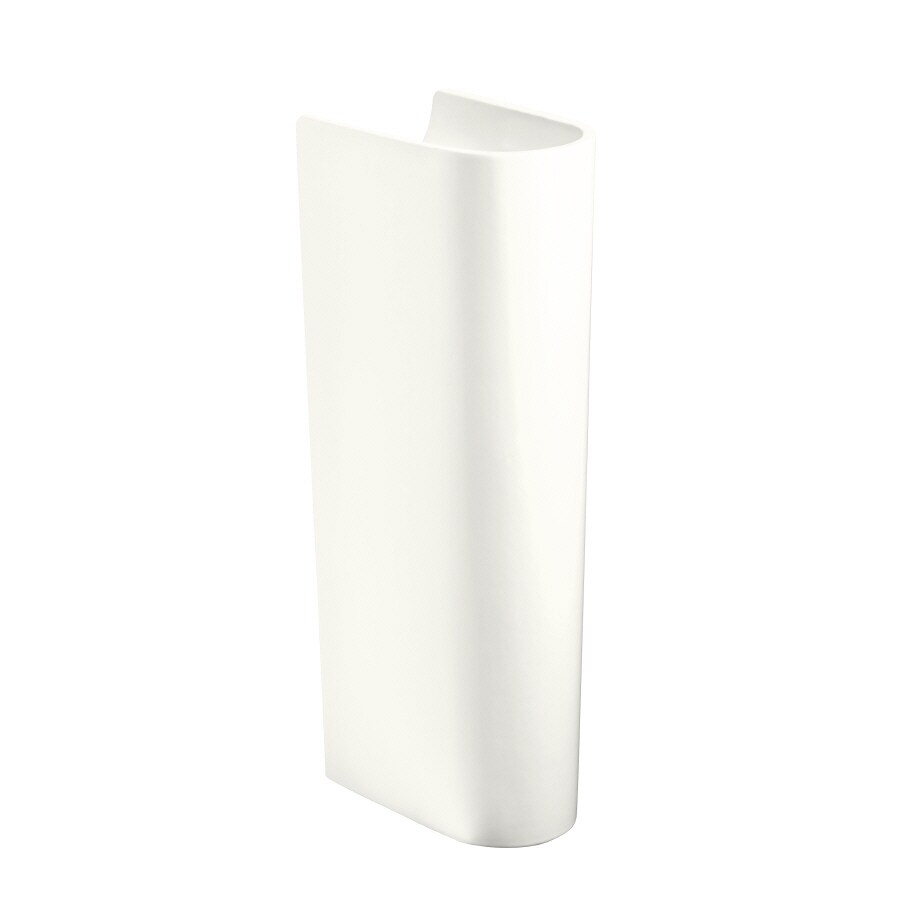 KOHLER Escale 28.74-in H White Vitreous China Pedestal Sink Base