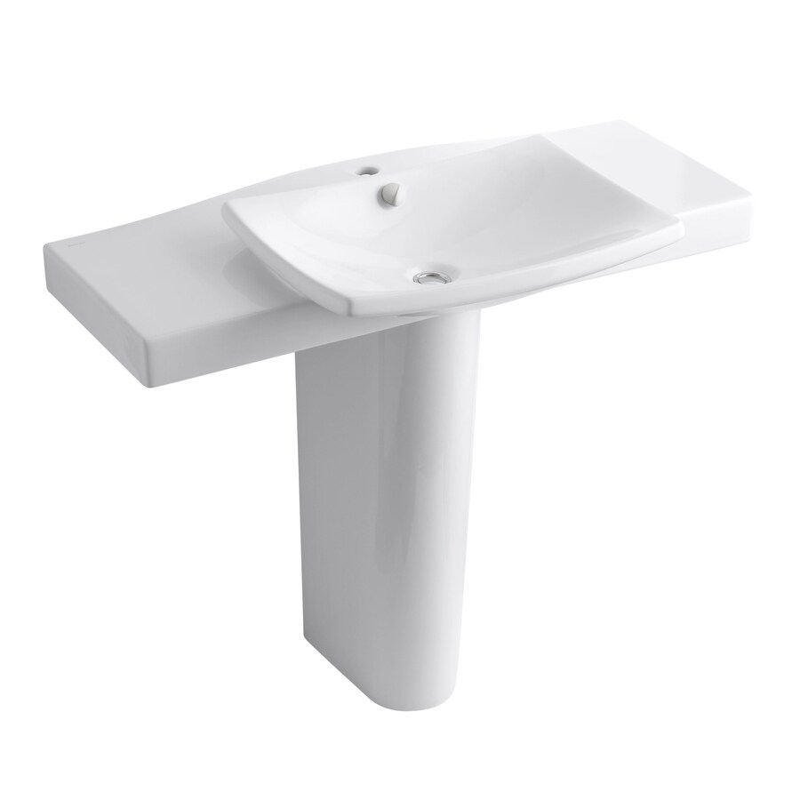 Pedestal Sink Cover : Shop KOHLER Escale 34-in H White Fire Clay Pedestal Sink at Lowes.com