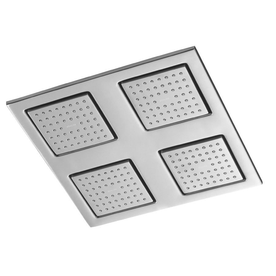 KOHLER 2.5-GPM/9.4-LPM Brushed Chrome WaterTile Rain Showerhead