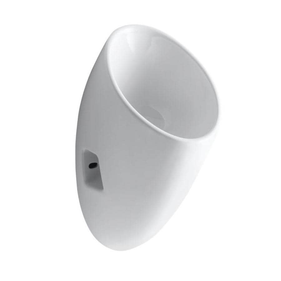 Kohler 11 In W X 23 75 In H White Wall Mounted Urinal At