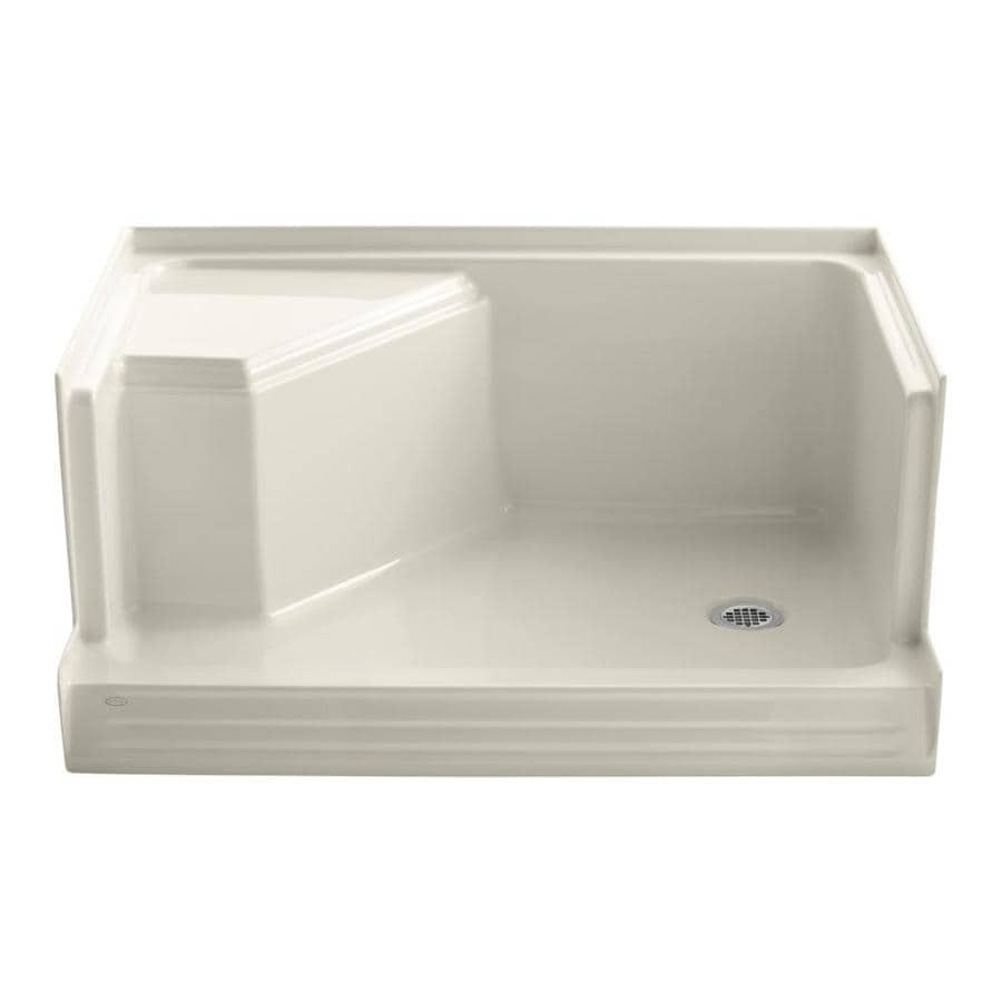 KOHLER Memoirs Almond Acrylic Shower Base (Common: 36-in W x 48-in L; Actual: 36-in W x 48-in L)