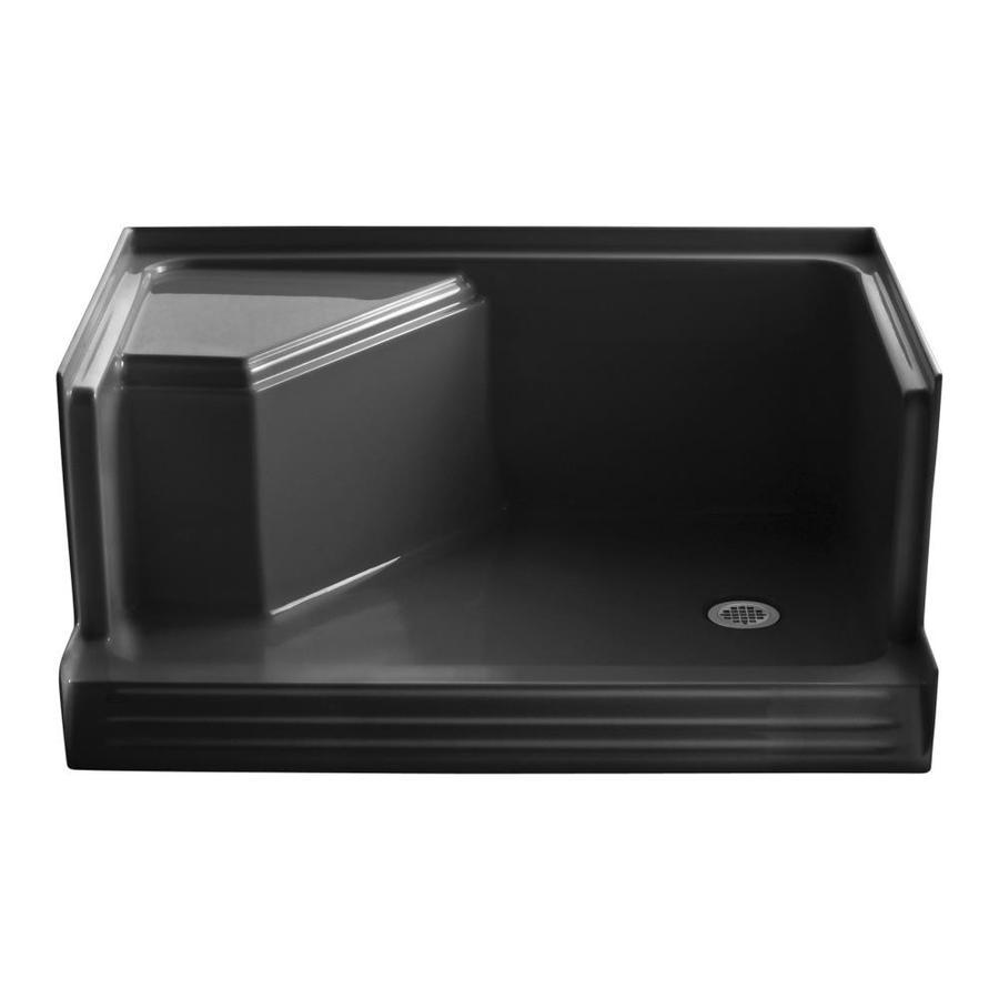KOHLER Memoirs Black Acrylic Shower Base (Common: 36-in W x 48-in L; Actual: 36-in W x 48-in L)