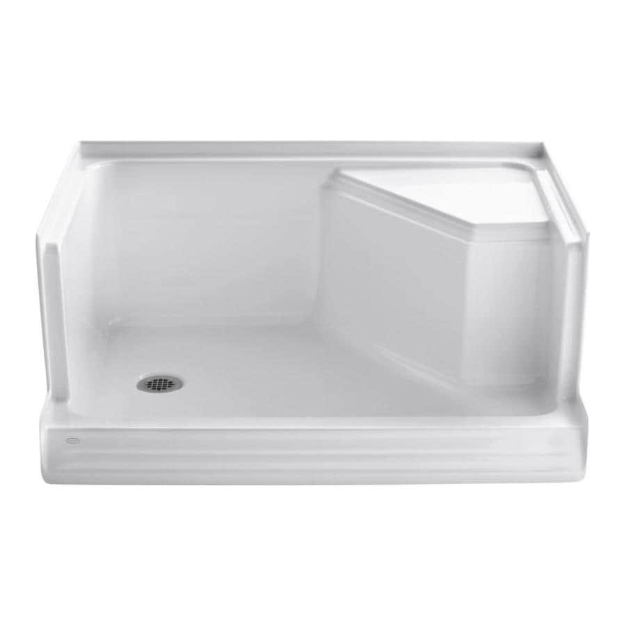 KOHLER Memoirs White Acrylic Shower Base (Common: 36-in W x 48-in L; Actual: 36-in W x 48-in L)