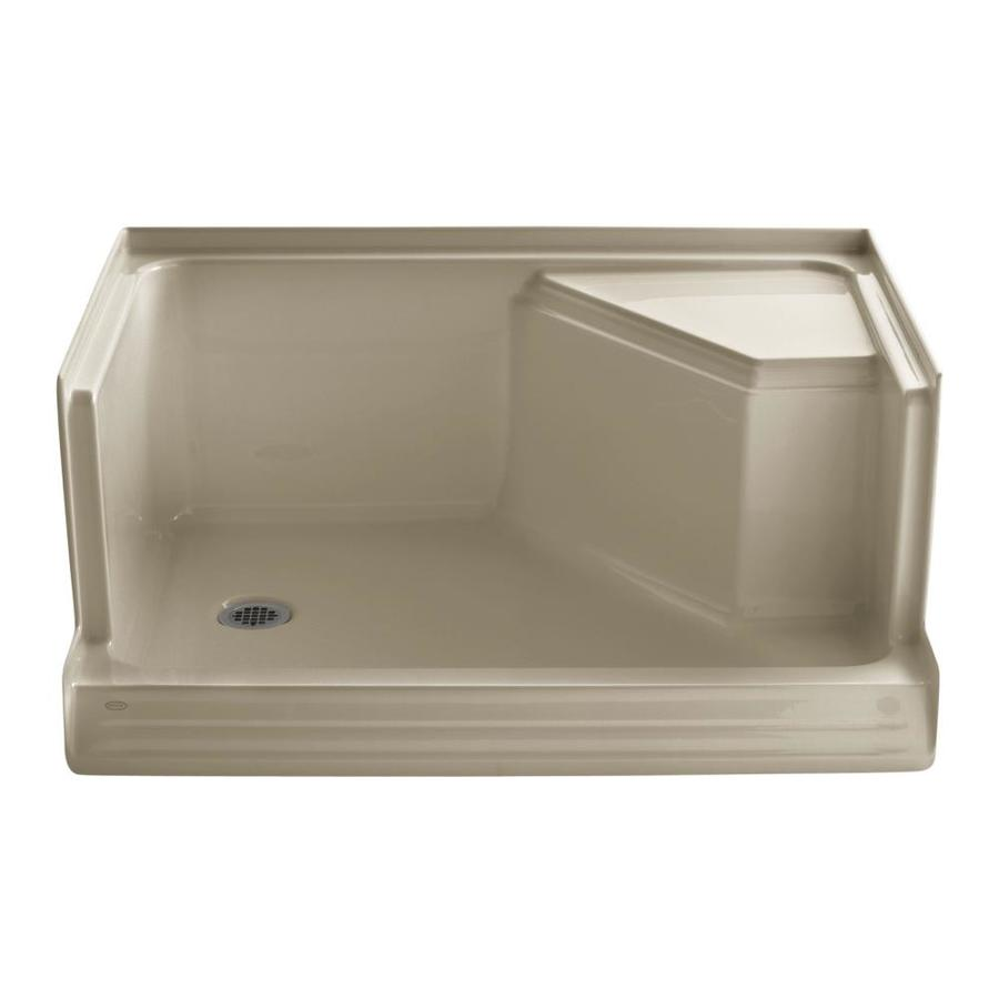 KOHLER Memoirs Mexican Sand Acrylic Shower Base (Common: 36-in W x 48-in L; Actual: 36-in W x 48-in L)