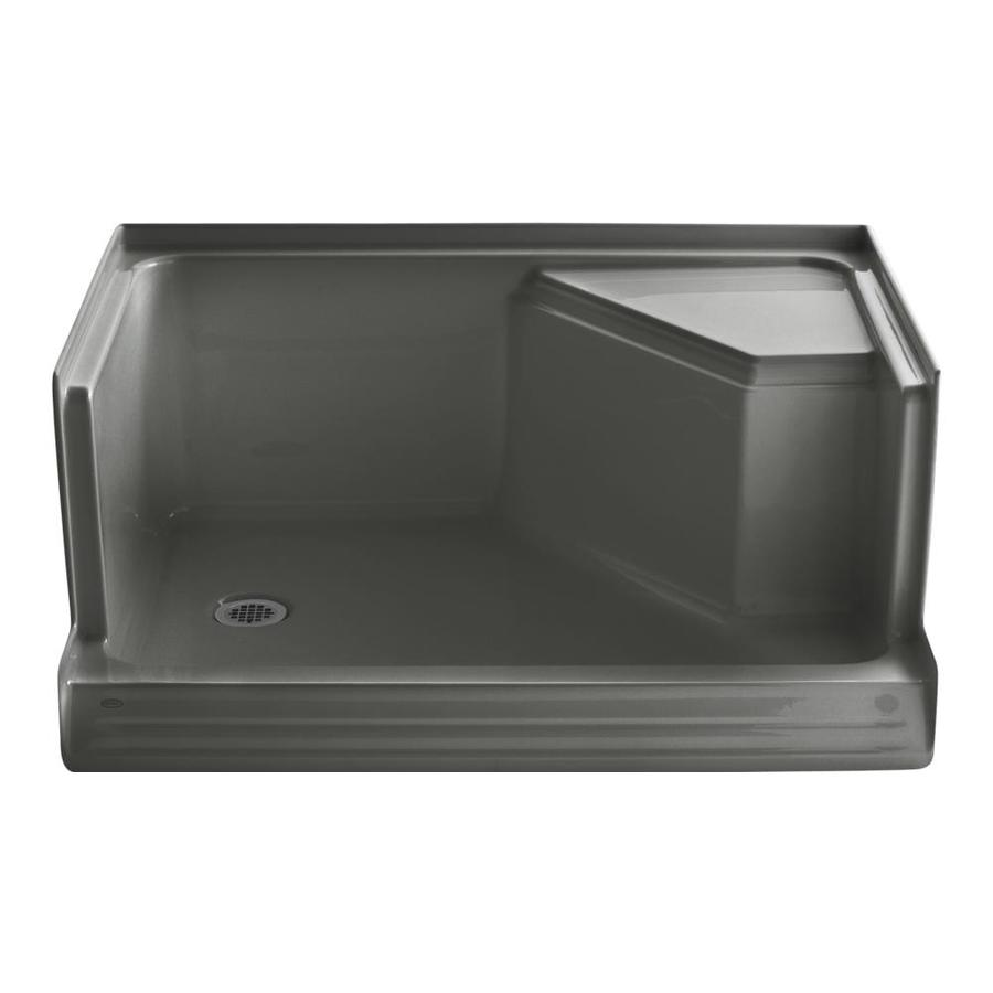 KOHLER Memoirs Thunder Grey Acrylic Shower Base (Common: 36-in W x 48-in L; Actual: 36-in W x 48-in L)