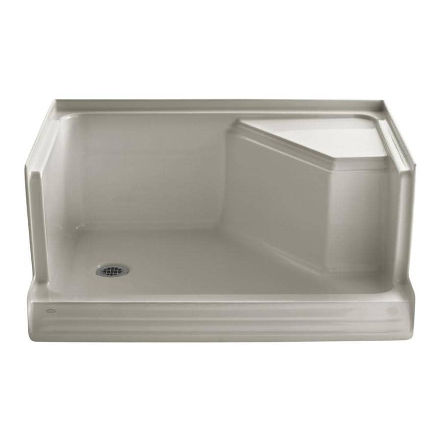 Shop Kohler Memoirs Sandbar Acrylic Shower Base Common