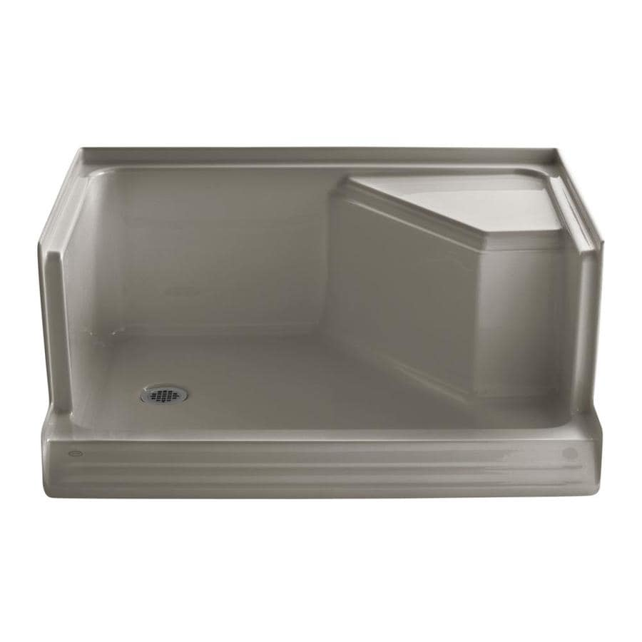 KOHLER Memoirs Cashmere Acrylic Shower Base (Common: 36-in W x 48-in L; Actual: 36-in W x 48-in L)
