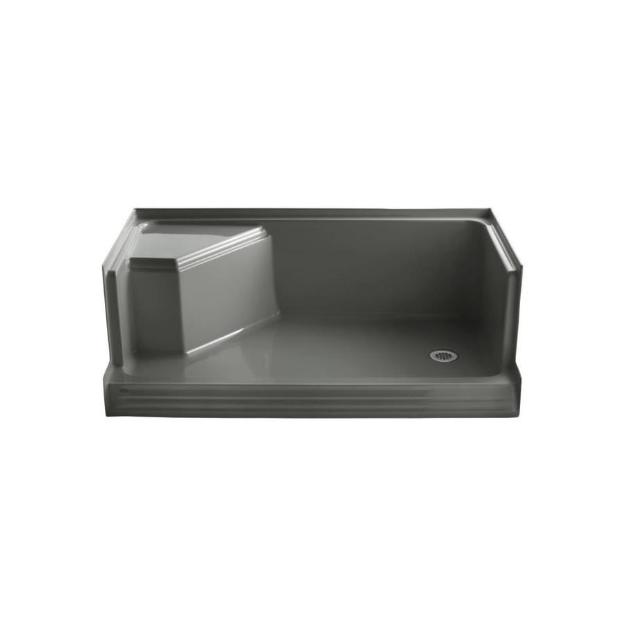 KOHLER Thunder Grey Solid Surface Wall Mount Shower Seat