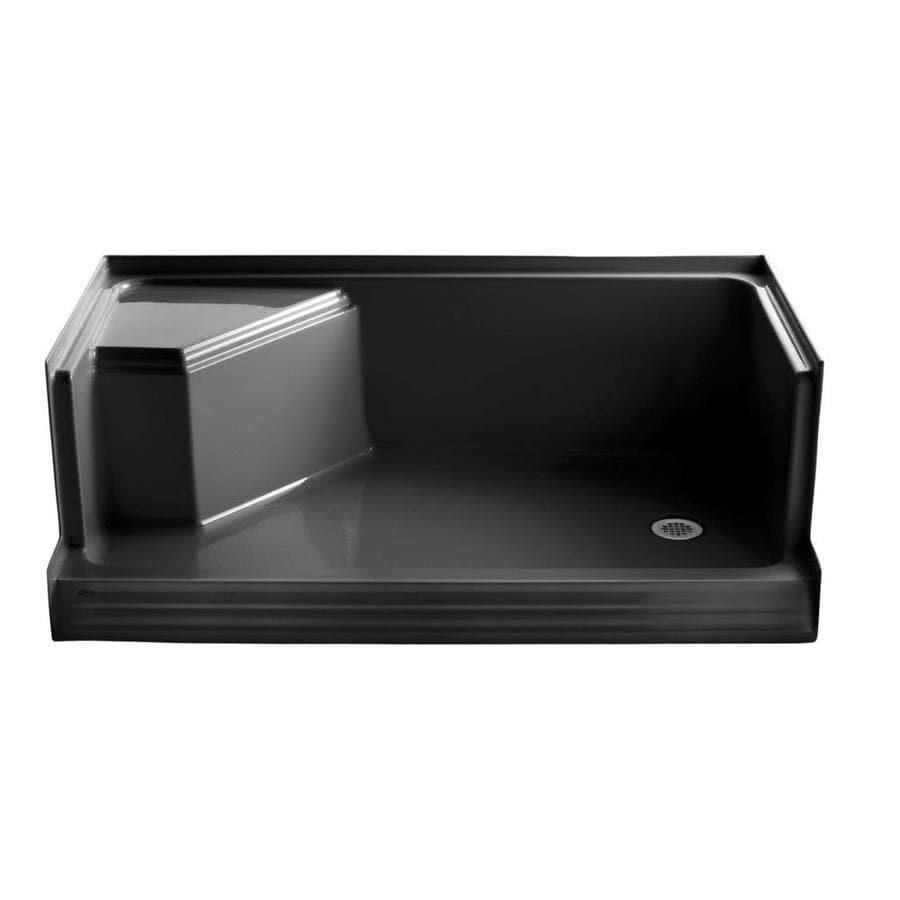 KOHLER Black Solid Surface Wall Mount Shower Seat