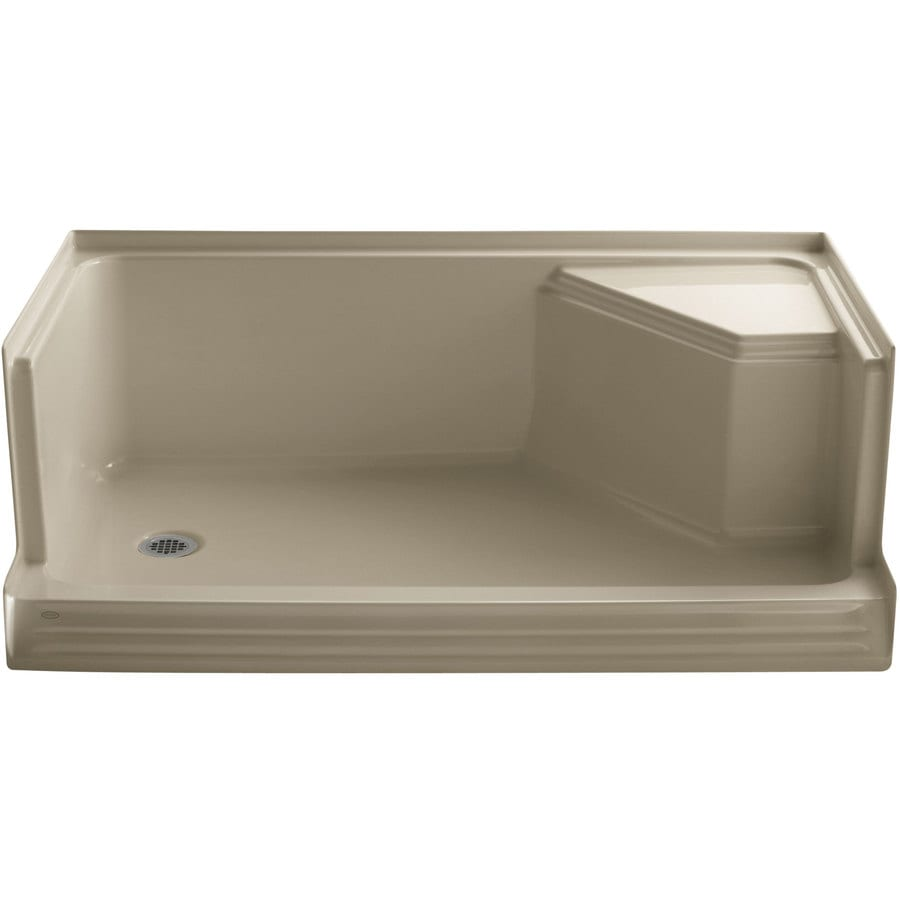 KOHLER Memoirs Mexican Sand Acrylic Shower Base (Common: 36-in W x 60-in L; Actual: 36-in W x 60-in L)