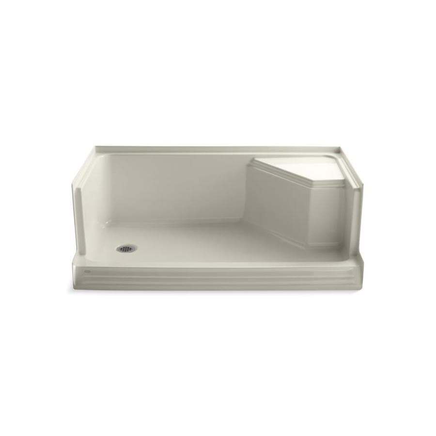 Shop Kohler Memoirs Almond Acrylic Shower Base Common 36