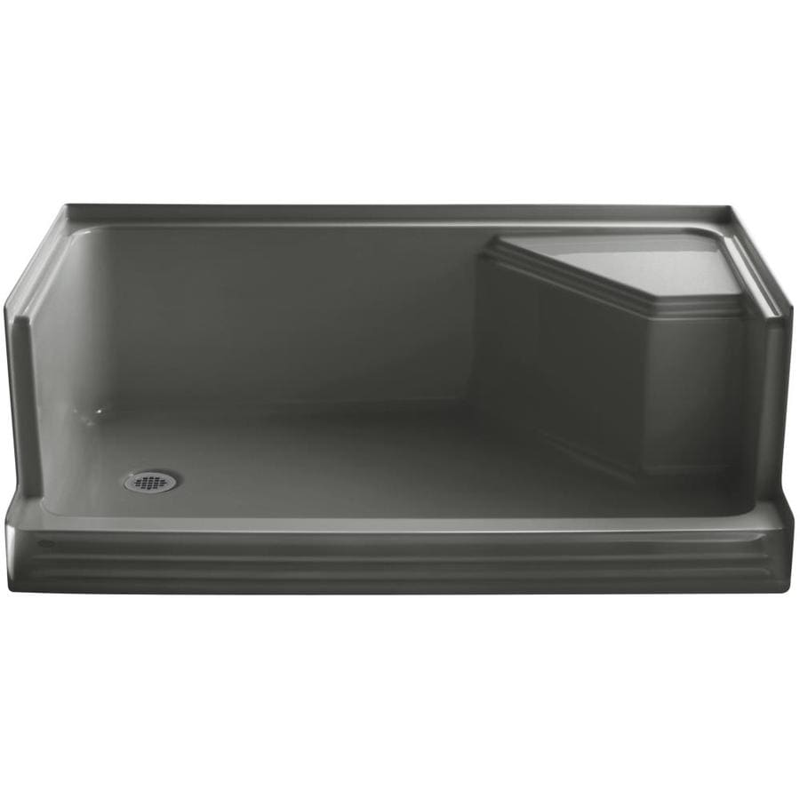 Shop Kohler Memoirs Thunder Grey Acrylic Shower Base