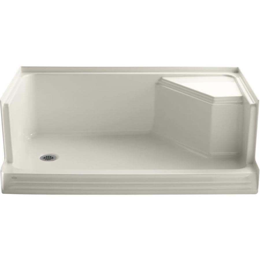 KOHLER Memoirs Biscuit Acrylic Shower Base (Common: 36-in W x 60-in L; Actual: 36-in W x 60-in L)