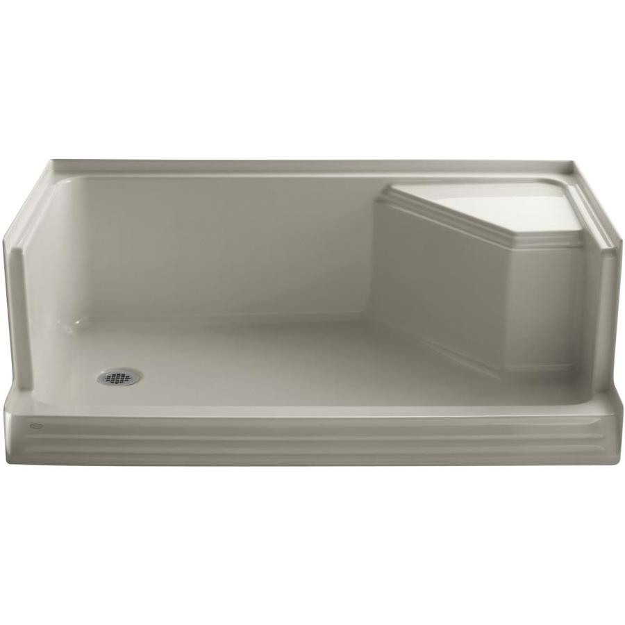 KOHLER Memoirs Sandbar Acrylic Shower Base (Common: 36-in W x 60-in L; Actual: 36.0-in W x 60.0-in L)
