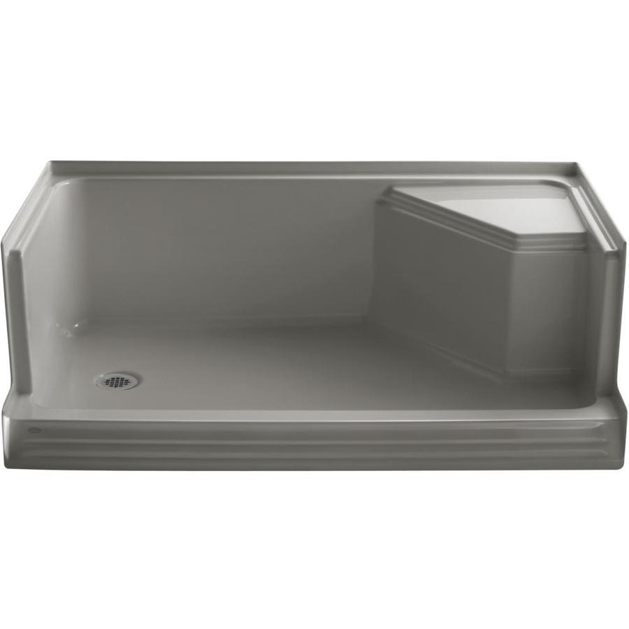 KOHLER Memoirs Cashmere Acrylic Shower Base (Common: 36-in W x 60-in L; Actual: 36-in W x 60-in L)