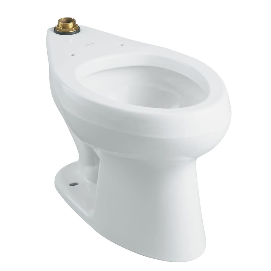 KOHLER Wellworth Standard Height White 10-in Rough-In Elongated Toilet Bowl