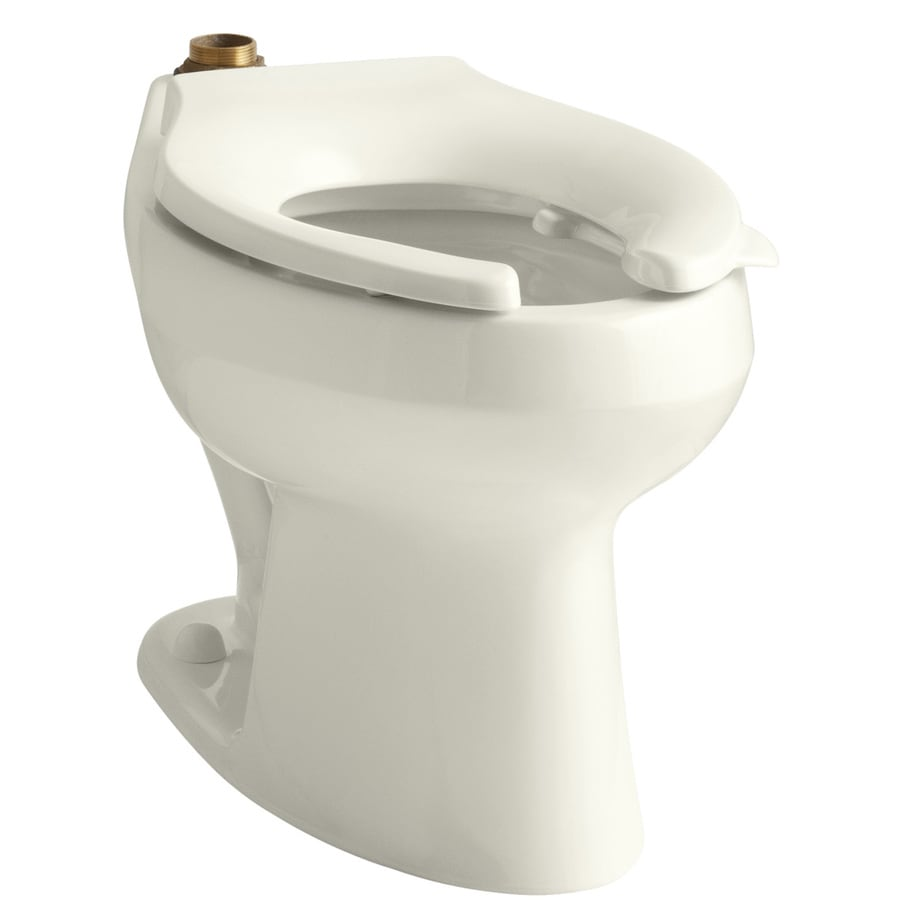 shop kohler wellworth biscuit elongated standard height