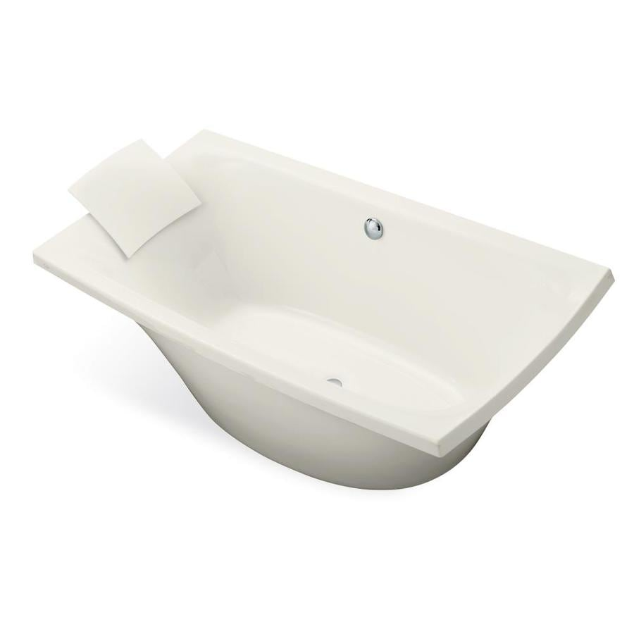 KOHLER Escale 72-in Biscuit Acrylic Drop-In Bathtub with Center Drain