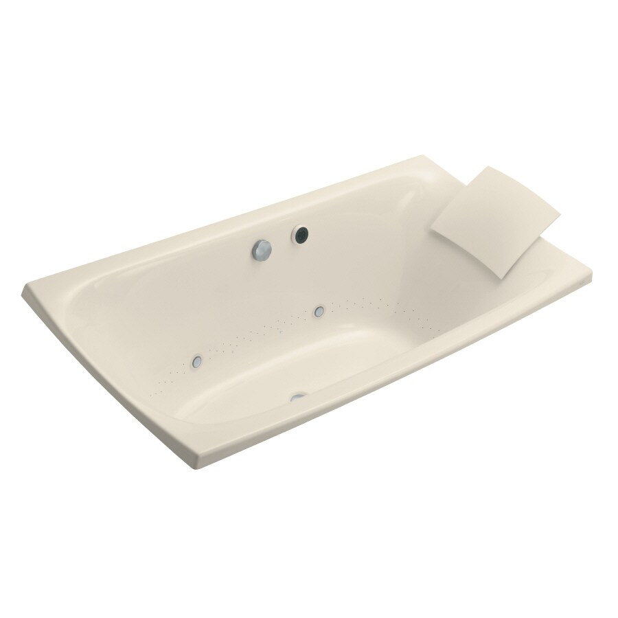 KOHLER Escale 72-in L x 36-in W x 24-in H Acrylic Rectangular Drop-in Air Bath