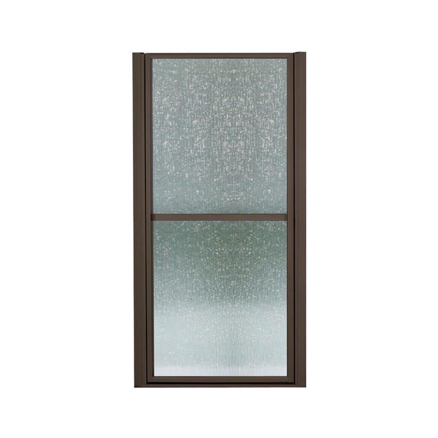 Sterling Finesse 27.5-in to 30.5-in W Framed Deep Bronze Hinged Shower Door