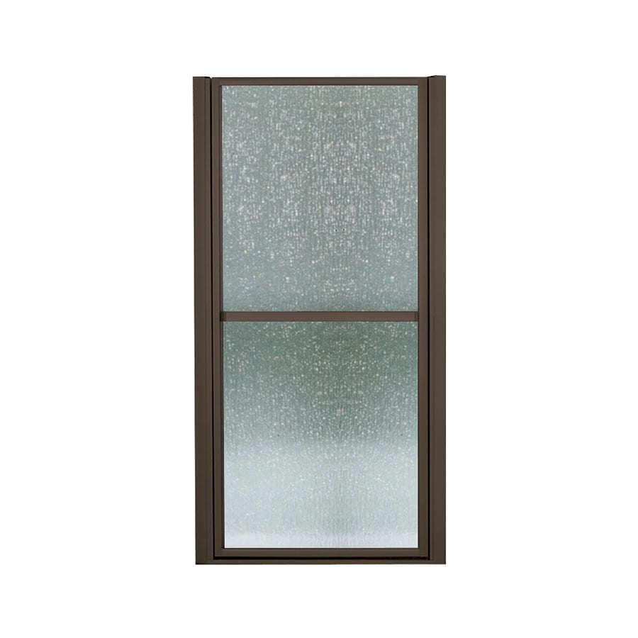 Sterling Finesse 30.5-in to 33.5-in W Framed Deep Bronze Hinged Shower Door