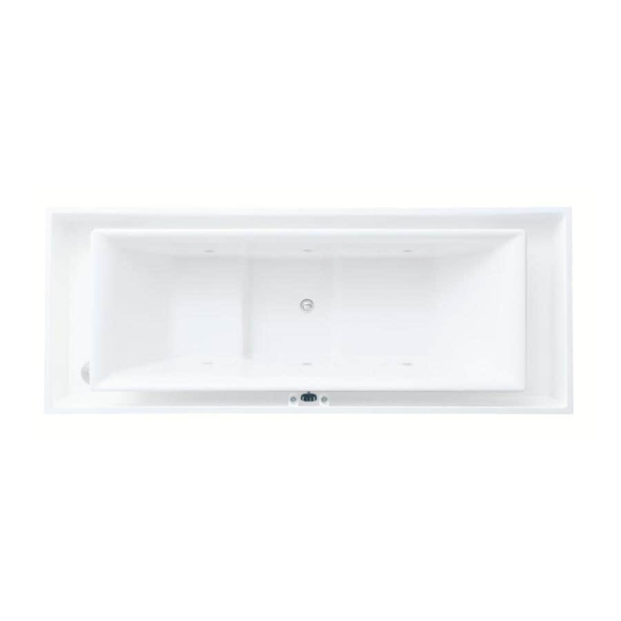 KOHLER Sok 103.75-in White Acrylic Drop-In Bathtub with Center Drain