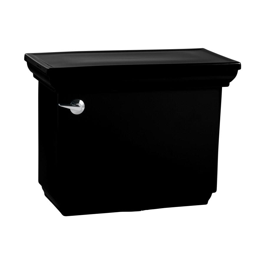 KOHLER Memoirs Black Black 1.28-GPF (4.85-LPF) 12-in Rough-In Single-Flush Toilet Tank