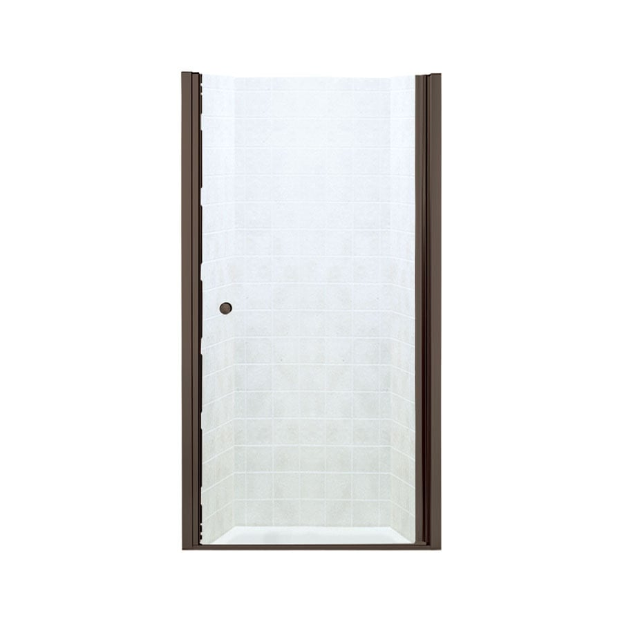 Sterling Finesse 28.75-in to 30.25-in W Frameless Deep Bronze Hinged Shower Door