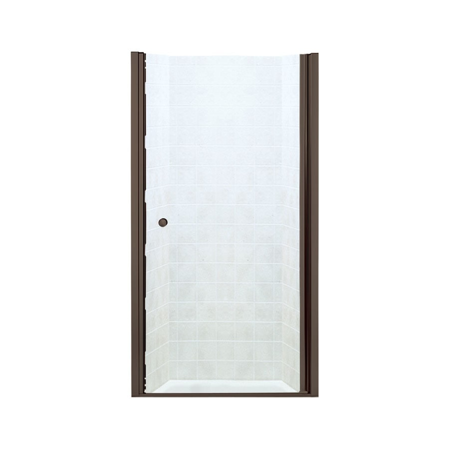 Sterling 31.25-in to 32.75-in Frameless Hinged Shower Door
