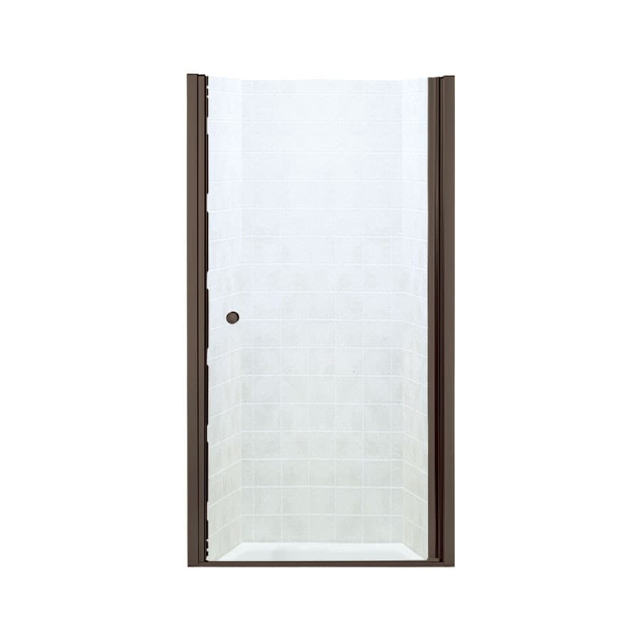Sterling Finesse 32.5000-in to 34-in Frameless Deep bronze Hinged Shower Door