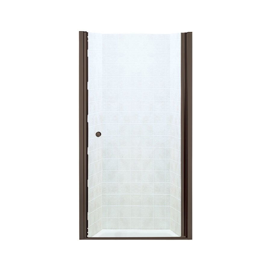 Sterling Finesse 33.75-in to 35.25-in Frameless Deep bronze Hinged Shower Door