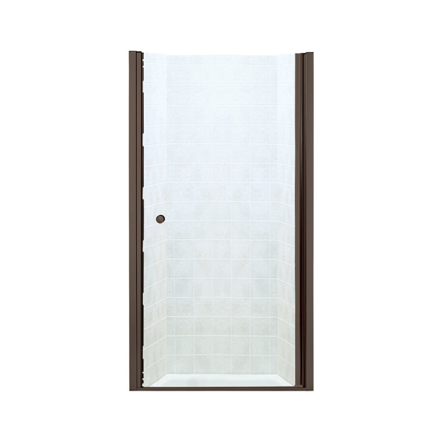 Sterling 33.75-in to 35.25-in Frameless Hinged Shower Door