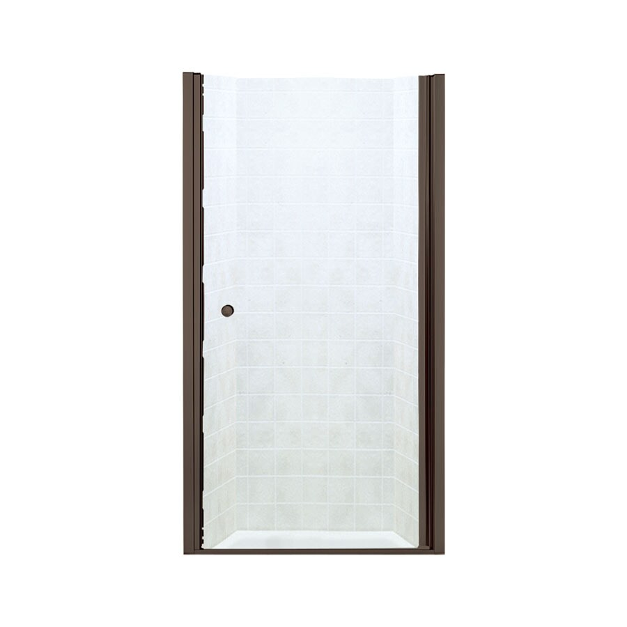 Sterling 36.25-in to 37.75-in Frameless Hinged Shower Door