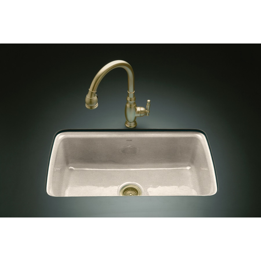 KOHLER Cape Dory 22 In X 33 In Cane Sugar Single Basin Cast